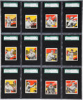 Baseball Cards:Lots, 1933 Tattoo Orbit SGC-Graded Collection (12)....