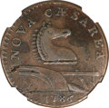 Colonials, 1786 COPPER New Jersey Copper, Narrow Shield, Straight Beam XF40NGC. Maris 15-J, W-4815, R.2....
