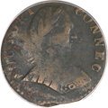 Colonials, 1788 COPPER Connecticut Copper, Small Head--Corroded--ANACS. VG8Details. M. 1-I, W-4400, R.5....