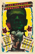 "Movie Posters:Horror, Son of Frankenstein/Bride of Frankenstein Combo (Realart, R-1948).One Sheet (27"" X 41""). Horror.. ..."