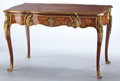 Furniture : French, A FRENCH MARQUETRY AND GILT BRONZE BUREAU PLAT . PaulSormani, Paris, France, circa 1870. Marks: PAUL SORMANIst...