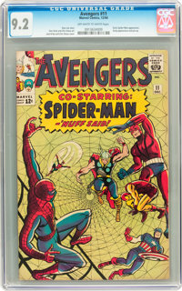 The Avengers #11 (Marvel, 1964) CGC NM- 9.2 Off-white to white pages