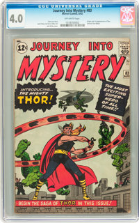 Journey Into Mystery #83 (Marvel, 1962) CGC VG 4.0 Off-white pages