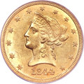 Liberty Eagles, 1844-O $10 MS61 PCGS....