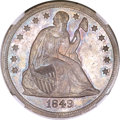 Seated Dollars, 1849 $1 MS64 NGC....