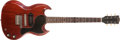 Musical Instruments:Electric Guitars, 1965 Gibson SG JR Cherry red Electric Guitar, #331094....