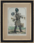 Antiques, Comic Hand-Colored Lithograph of Forty-Niner....