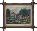"Western Expansion:Goldrush, ""Gold Mining In California"": A Rare and Highly Desirable Currier& Ives Print...."