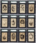 Baseball Cards:Sets, 1921 V61 Nielsen's Chocolate Baseball Near Set (118/120) - WithSchang Back Variation. ...