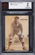 Baseball Cards:Singles (1930-1939), 1934 D382 Tarzan Bread George Vergez BVG Good 2. ...
