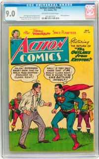 Action Comics #194 (DC, 1954) CGC VF/NM 9.0 Off-white to white pages