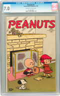 Golden Age (1938-1955):Humor, Peanuts #1 (United Features Syndicate, 1953) CGC FN/VF 7.0Off-white to white pages....