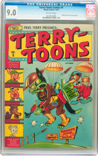 Terry-Toons Comics #1 (Timely, 1942) CGC VF/NM 9.0 Off-white pages