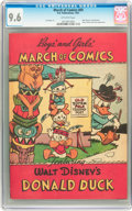 Golden Age (1938-1955):Funny Animal, March of Comics #69 Donald Duck (K. K. Publications, Inc., 1951)CGC NM+ 9.6 Off-white pages....