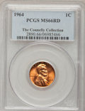 Lincoln Cents: , 1964 1C MS66 Red PCGS. Ex:The Connelly Collection. PCGS Population(320/1). NGC Census: (423/14). Mintage: 2,652,525,824. N...