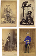 """Photography:CDVs, Eight Miscellaneous Cartes de Visite. A diverse offering highlighted by a card titled """"Prince of Wales & Family"""". No bac... (Total: 8 )"""