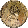 Patterns, 1863 2C Two Cents, Judd-310, Pollock-375, Low R.7, PR66 NGC....