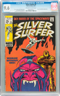 Silver Age (1956-1969):Superhero, The Silver Surfer #6 (Marvel, 1969) CGC NM+ 9.6 Off-white to white pages....