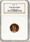 Proof Lincoln Cents, 1952 1C PR66 Cameo NGC. PCGS Population (42/22). NGC Census:(23/26). Numismedia Wsl. Price for problem free NGC/PCGS coin...