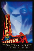 """Movie Posters:Animated, The Lion King (Buena Vista, 1994). One Sheet (27"""" X 40"""") SS ElCapitan Theater Advance. Animated.. ..."""