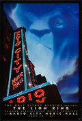 "Movie Posters:Animated, The Lion King (Buena Vista, 1994). One Sheet (27"" X 40"") SS Radio City Music Hall Advance. Animated.. ..."