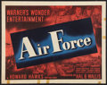 "Movie Posters:War, Air Force (Warner Brothers, 1943). Half Sheet (22"" X 28""). War.. ..."