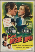 "Movie Posters:Crime, Enter Arsene Lupin (Universal, 1944). One Sheet (27"" X 41"").Crime.. ..."