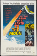 "Movie Posters:Science Fiction, From the Earth to the Moon (Warner Brothers, 1958). One Sheet (27"" X 41""). Science Fiction.. ..."