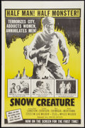 "Movie Posters:Science Fiction, Snow Creature (United Artists, 1954). One Sheet (27"" X 41""). Science Fiction.. ..."