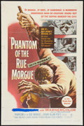 "Movie Posters:Horror, Phantom of the Rue Morgue (Warner Brothers, 1954). One Sheet (27"" X 41""). Horror.. ..."