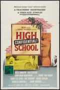 "Movie Posters:Exploitation, High School Confidential (MGM, 1958). One Sheet (27"" X 41""). Exploitation.. ..."