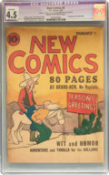 Platinum Age (1897-1937):Miscellaneous, New Comics #2 (DC, 1936) CGC Apparent VG+ 4.5 Moderate (P) Cream tooff-white pages....