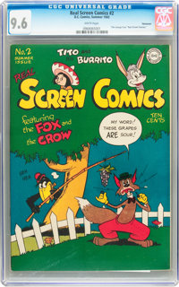 Real Screen Comics #2 Vancouver pedigree (DC, 1945) CGC NM+ 9.6 White pages