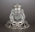 Silver Holloware, American:Desk Accessories, AN AMERICAN SILVER AND GLASS INKWELL . Gorham Manufacturing Co.,Providence, Rhode Island, circa 1900. Marks: (lion-anchor-G...