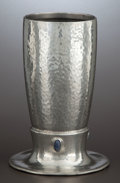 Silver Holloware, American:Vases, A VICTORIAN PEWTER AND STONE MOUNTED VASE . Liberty & Co.,London, England, circa 1901. Marks: ENGLISH PEWTER, MADE BYLIB...