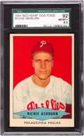 Baseball Cards:Singles (1950-1959), 1954 Red Heart Richie Ashburn SGC 92 NM/MT+ 8.5 - Pop 3 With None Higher....