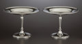 Silver & Vertu:Hollowware, A PAIR OF AMERICAN SILVER TAZZAS . Tiffany & Co., New York, New York, circa 1925. Marks: TIFFANY & CO., 20580 MAKERS 8695,... (Total: 2 Items)