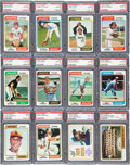 Baseball Cards:Sets, 1974 Topps Baseball High Grade PSA Partial Set (324) With Over 40 PSA 10s....
