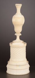 Decorative Arts, Continental:Other , AN ANGLO-INDIAN IVORY TURNED VASE . Maker unknown, India, circa1820. Unmarked . 10 inches high (25.4 cm). ...