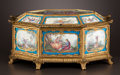 Decorative Arts, French:Other , A FRENCH PORCELAIN SEVRES-STYLE OCTAGONAL CASKET WITH GILT BRONZEMOUNTS . Maker unknown, probably Paris, France, circa 1900...