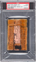 Autographs:Others, 1925 Babe Ruth, Ty Cobb & John McGraw Signed World SeriesTicket Stub....