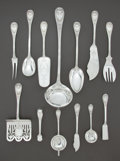 Silver Flatware, Continental:Flatware, A SET OF GERMAN SILVER SERVING PIECES . H. Meyen & Co., Berlin,Germany, circa 1900. Marks: H. MEYEN & CO., (crescent,c... (Total: 20 Items)