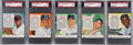 Baseball Cards:Lots, 1954 Red Man Baseball Stars & Hall of Famers PSA-Graded Group of (5). ...