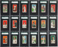 Baseball Cards:Sets, 1909-11 E90-1 American Caramel Baseball SGC-Graded Near Set(108/120)....