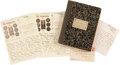 Golf Collectibles:Autographs, 1916 Harry Vardon Handwritten Signed Letters Lot of 3....