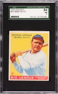 Baseball Cards:Singles (1930-1939), 1933 Goudey Babe Ruth #53 SGC 84 NM 7....