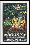 """Movie Posters:Serial, The Adventures of Robinson Crusoe (Universal, 1922). One Sheet (27"""" X 41"""") Chapter 11 -- """"No Greater Love."""" Serial.. ..."""