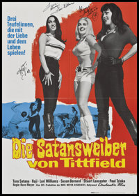"Faster, Pussycat! Kill! Kill! (Eve Productions, 1967). Autographed German A1 (23"" X 33""). Sexploitation"