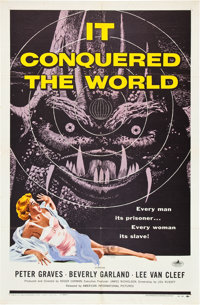 """It Conquered the World (American International, 1956). One Sheet (27"""" X 41""""). Science Fiction"""
