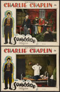 "Movie Posters:Comedy, Sunnyside (Pathe, R-1923). Lobby Cards (2) (10"" X 13""). Comedy.. ... (Total: 2 Items)"